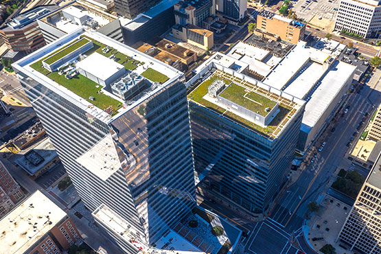 Centene Plaza Green Roof Aerial