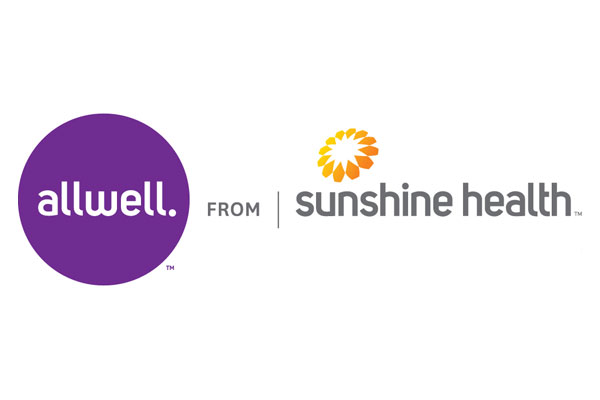 Logo of Allwell from Sunshine Health a healthcare program of Centene Corporation