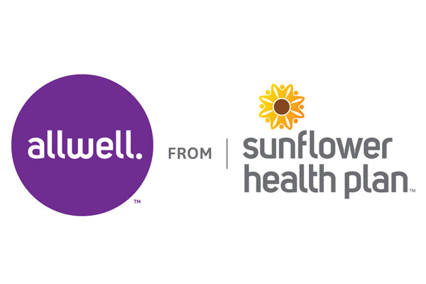 Logo for Sunflower Health Plan, a healthcare service of Centene Corporation