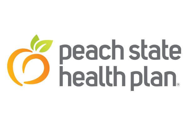 Logo of Peach State Health Plan a healthcare program of Centene Corporation